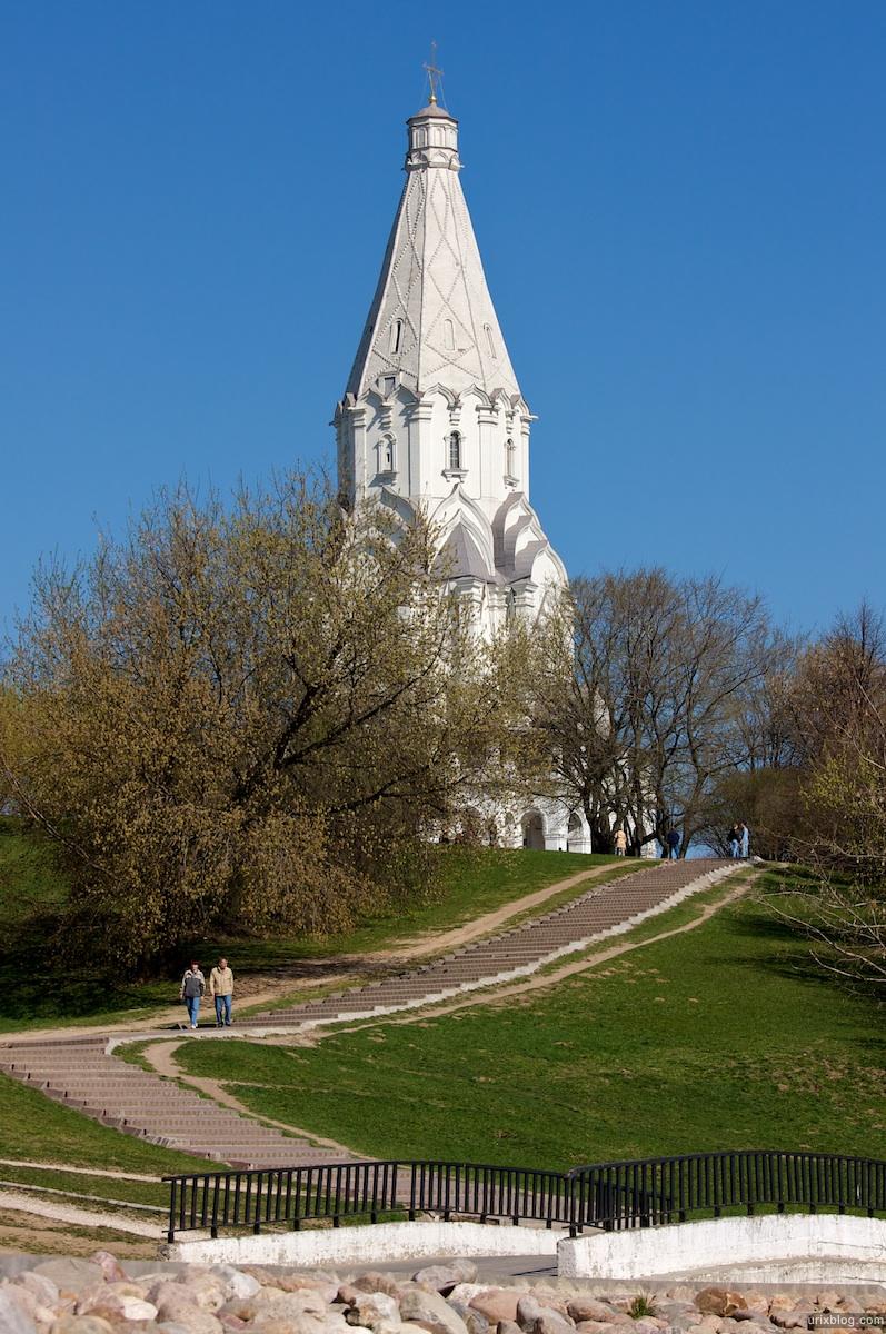 2009 Коломенское Москва парк природа деревья ступеньки мост церковь