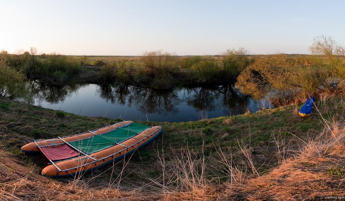 2009 река Дубна сплав Россия путешествие катамаран лодка панорама фишай рыбий глаз
