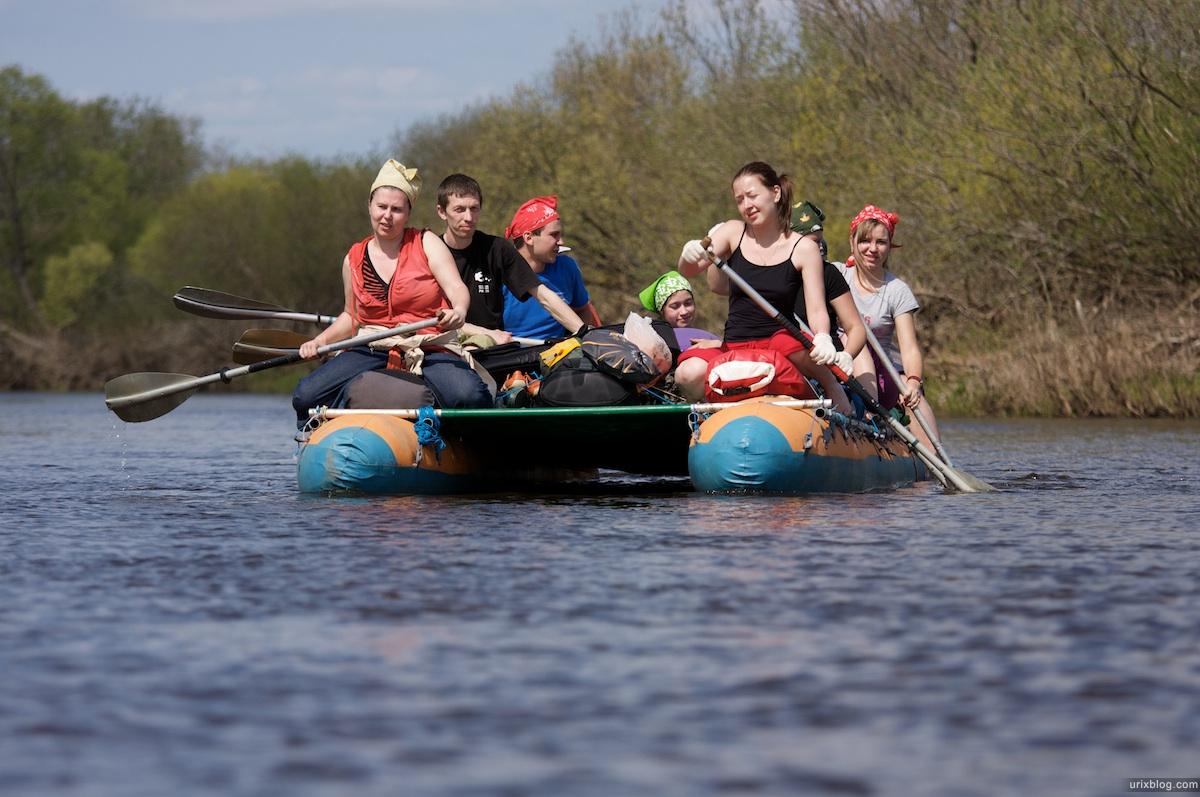 2009 река Дубна сплав Россия путешествие катамаран лодка