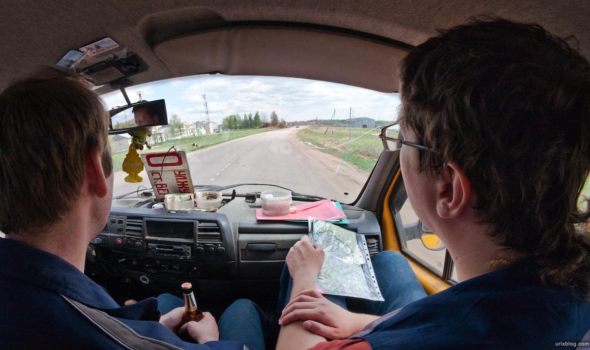 2009 река Дубна сплав Россия путешествие катамаран лодка машина дорога