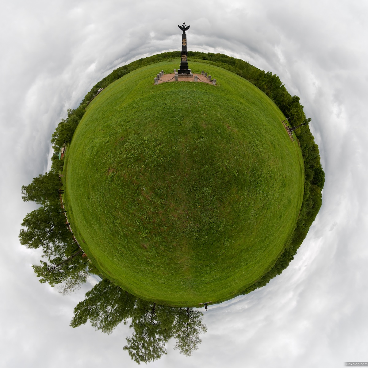 2009 Бородинское поле Россия little small planet panorama панорама маленькая планета