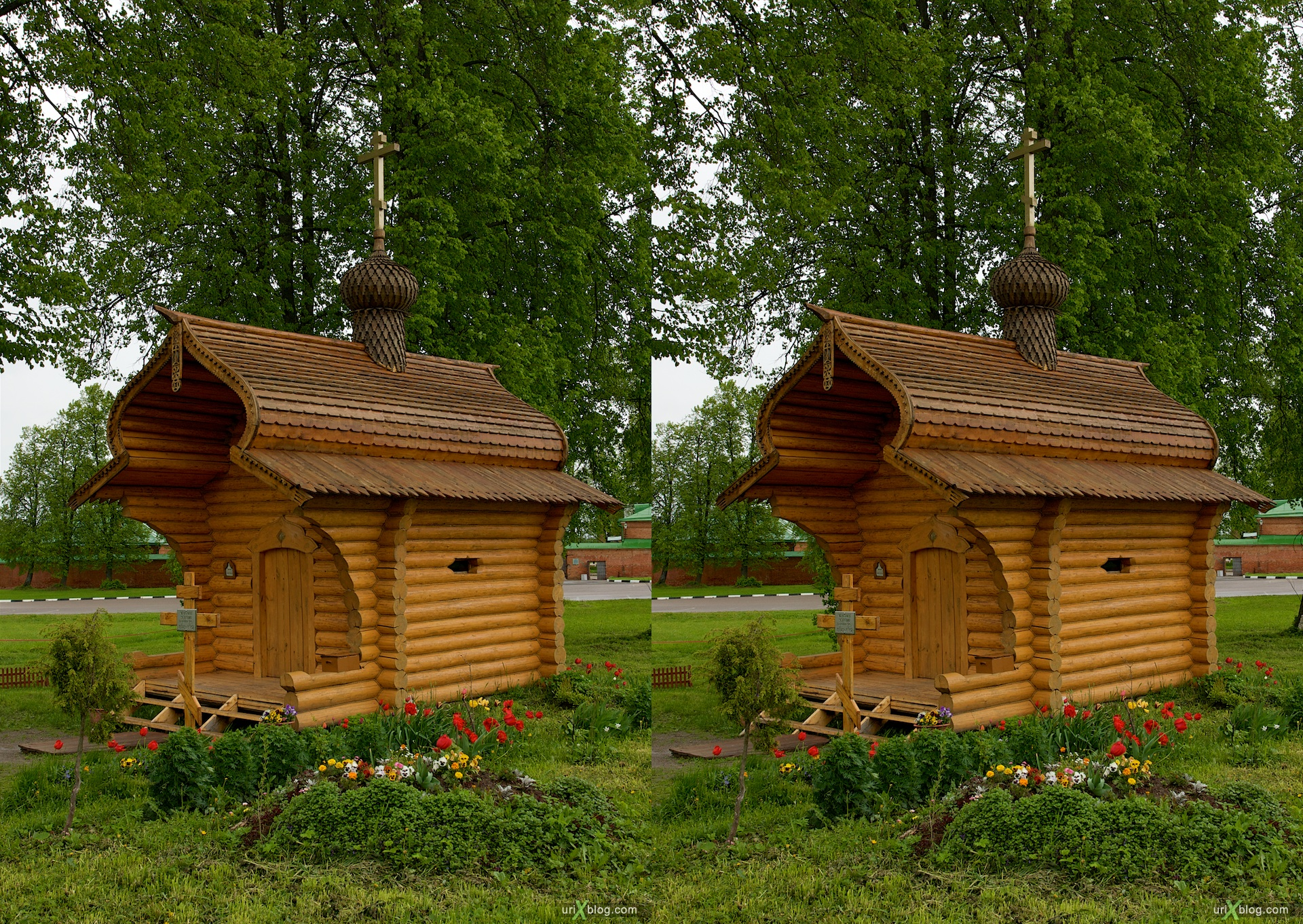 2009 Бородинское поле Спасо-Бородинский монастырь 3D, stereo, cross-eyed, стерео, стереопара