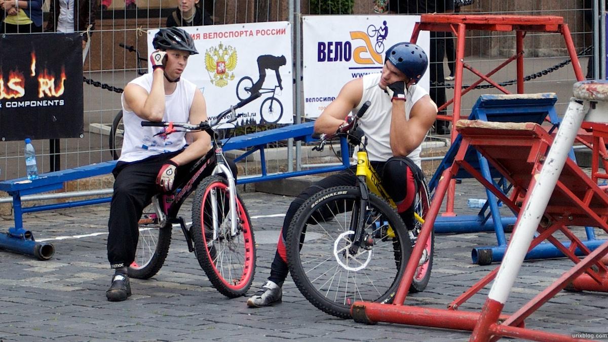 2009 Москва 5-й Военно-спортивный форум Красная площадь спорт велосипед