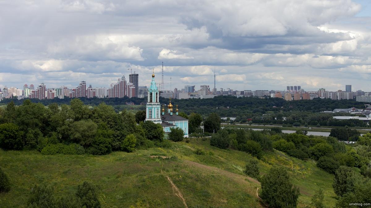 2009 Москва Крылатские холмы, Живописный мост река природа небо облака
