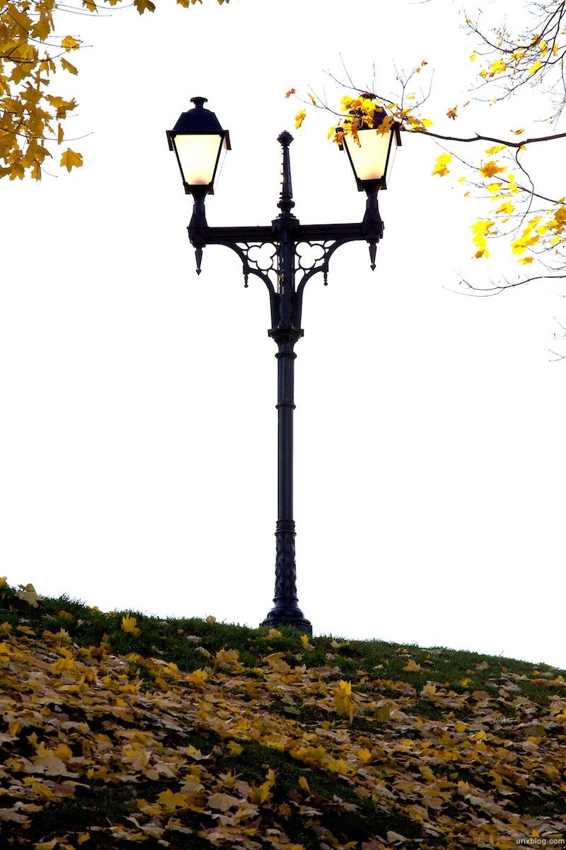 2009 Москва Царицыно парк фонарь осень