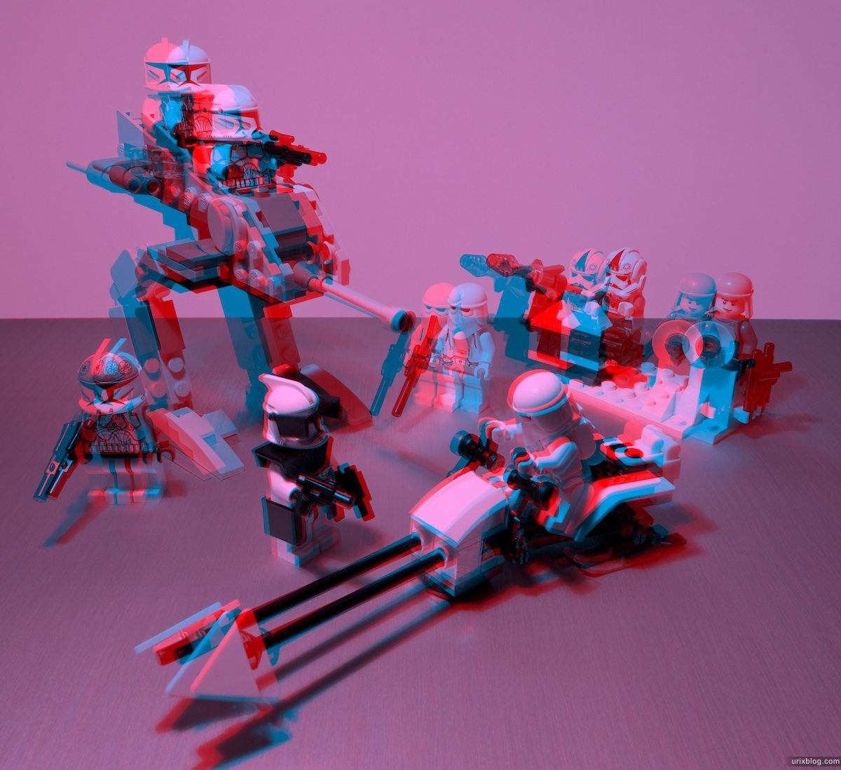 2009 LEGO Stormtroopers, ClonesStar Wars 3D, stereo, стерео