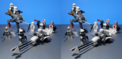 2009 LEGO Stormtroopers, Clones Star Wars 3D, stereo, стерео, стереопара
