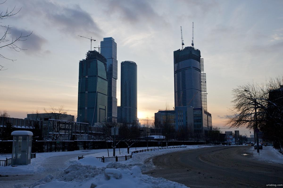 2010 Москва сити Москва зима снег