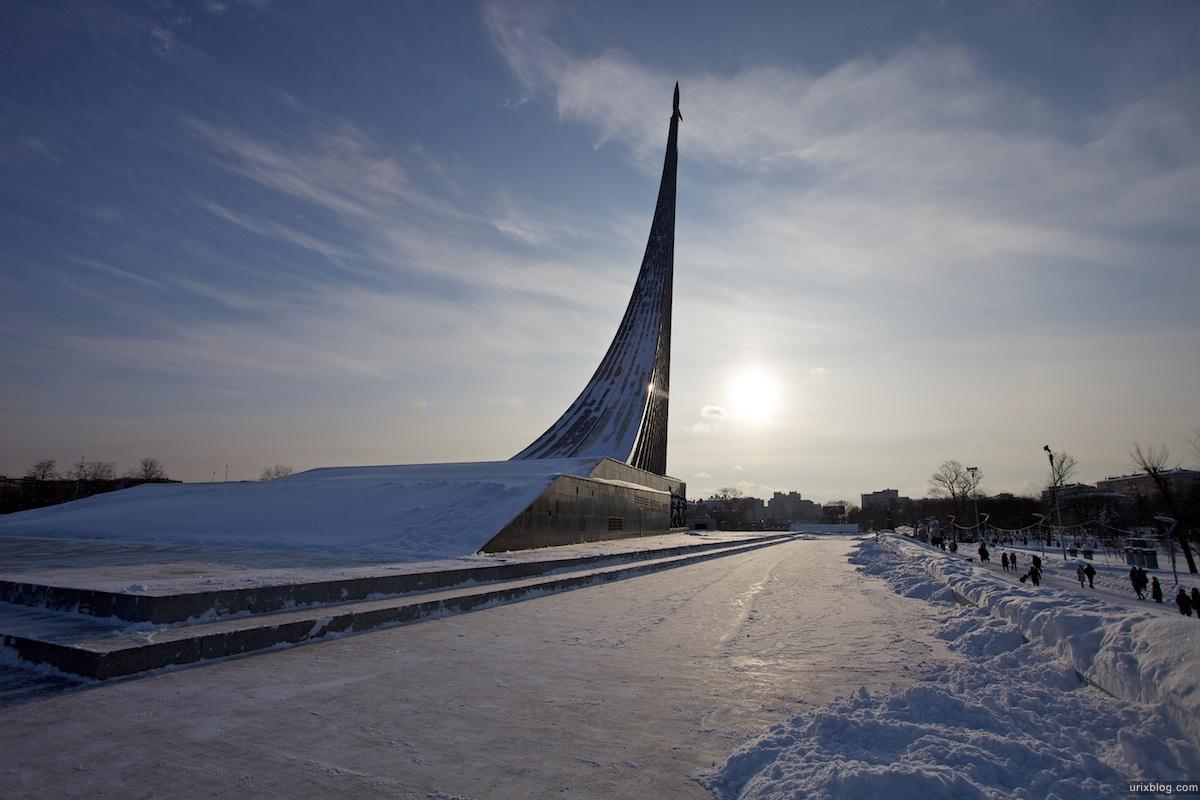 2010 ВДНХ Москва музей космонавтики зима снег