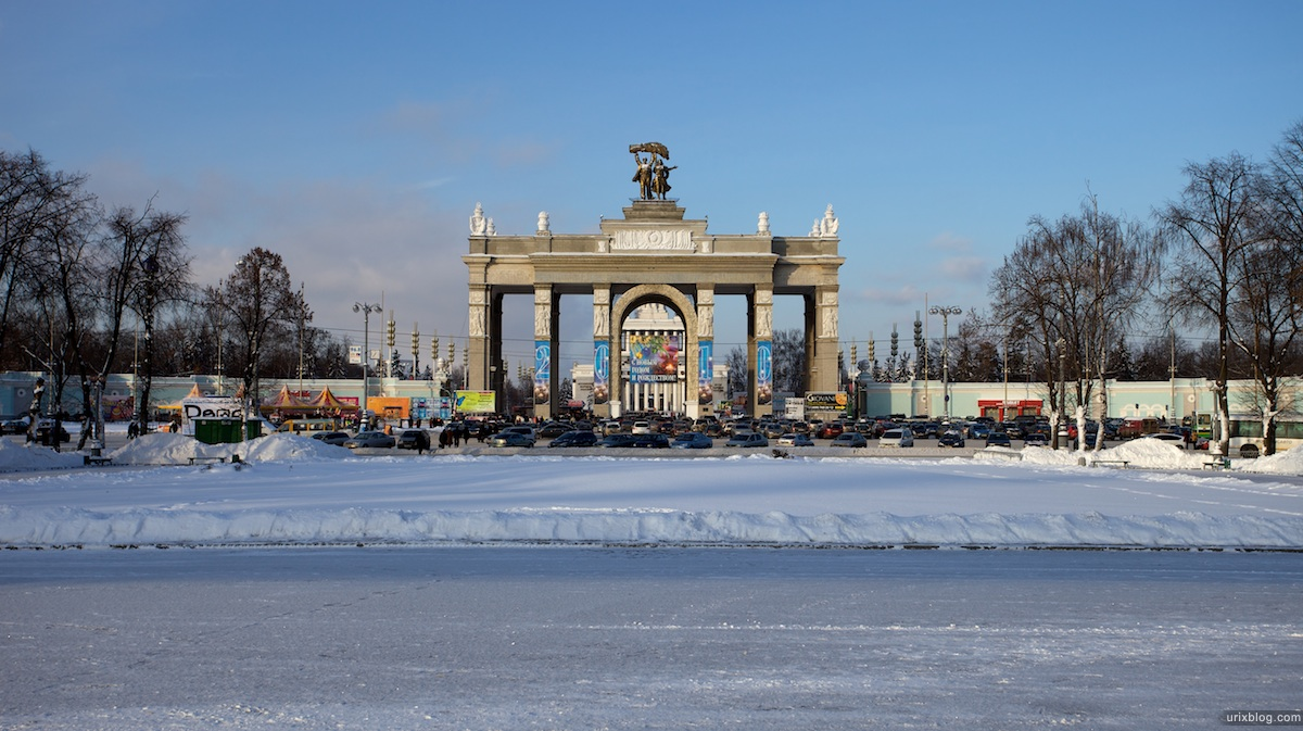 2010 ВДНХ Москва зима снег