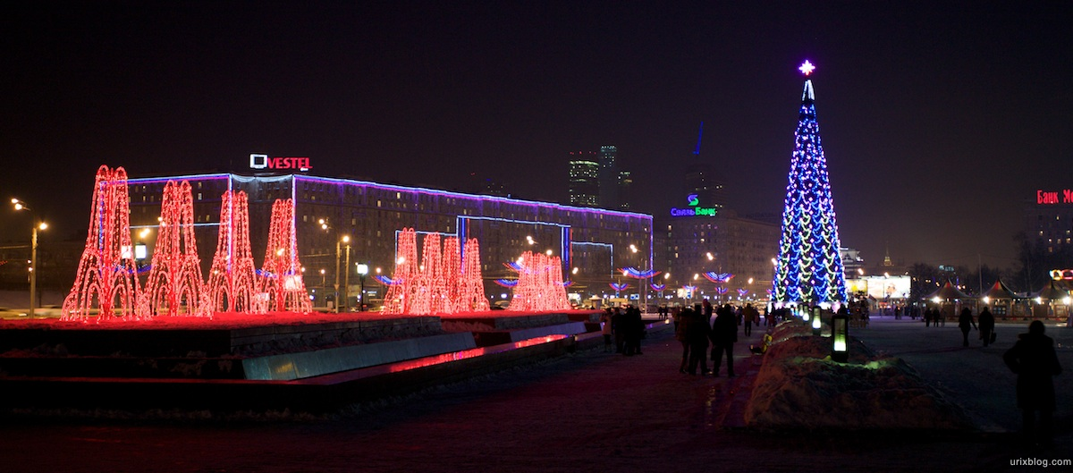 2010 Ёлка на ПаркеПобеды зима снег, Москва