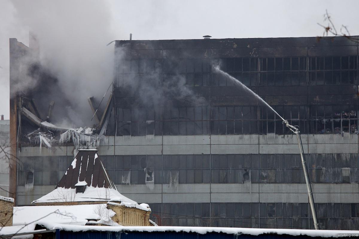 2010 пожар Рубцовская набережная Электрозаводская зима Москва