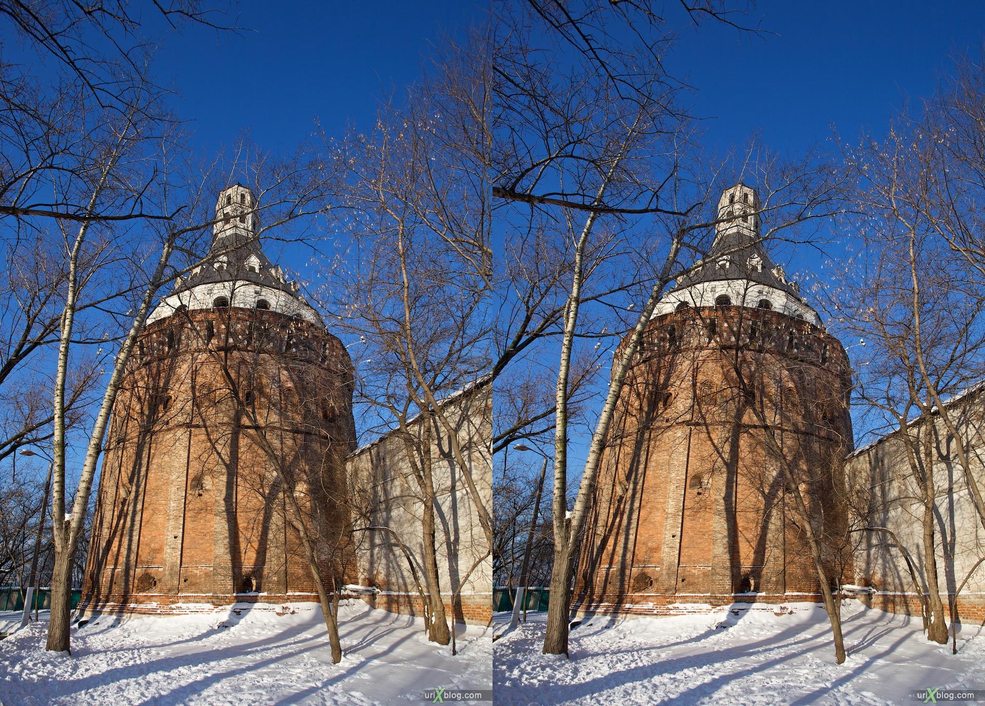 2010 3D, stereo, cross-eyed, стерео, стереопара Moscow, Москва, Симонов монастырь