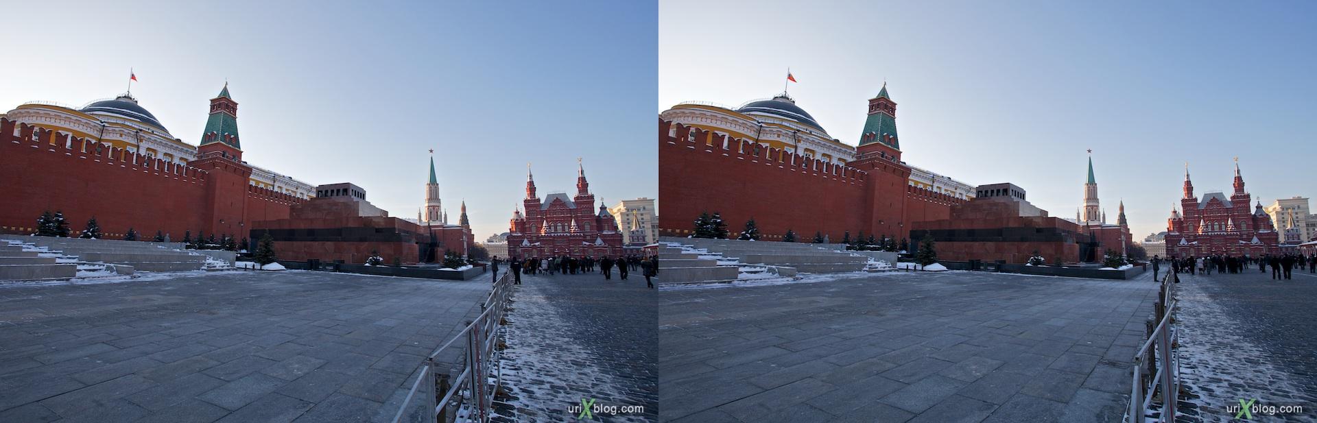 2010 3D, stereo, cross-eyed, стерео, стереопара Moscow, Москва, Красная площадь, Reg square