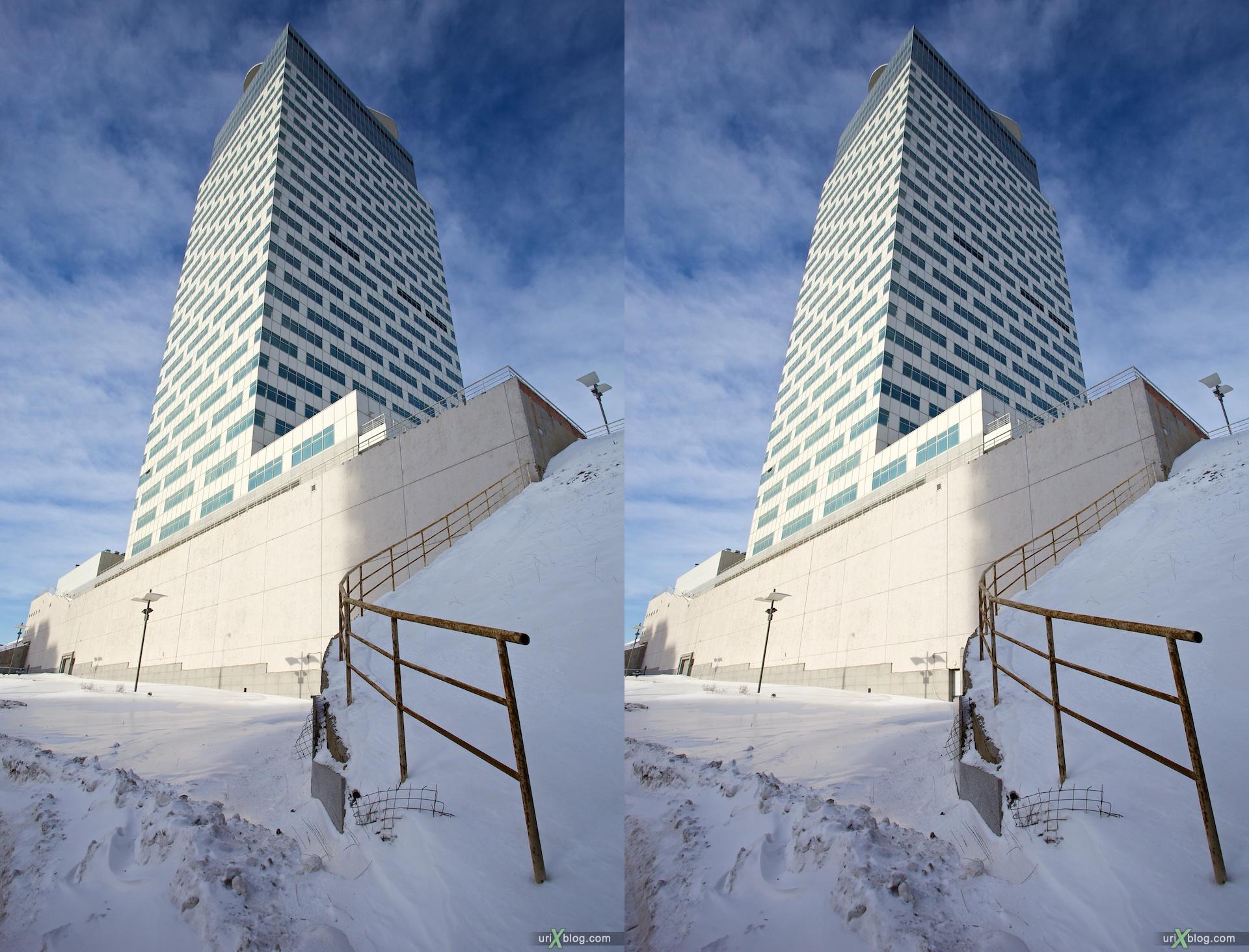 2010 3D, stereo, cross-eyed, стерео, стереопара Moscow, Krylatskoye, Москва, Бизнес-центр Профико в Крылатском