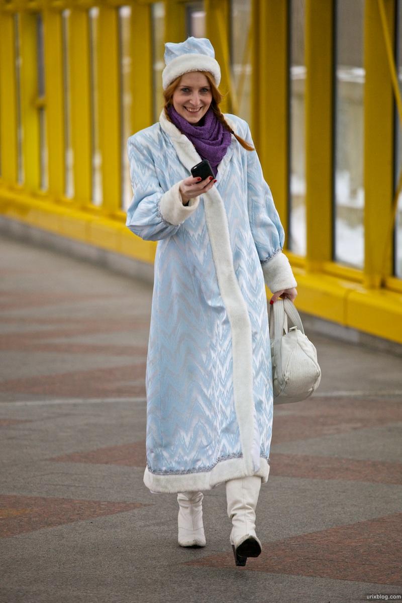 2010 Андреевский мост флешмоб Дед Мороз символ Олимпиада Сочи 2014 Москва