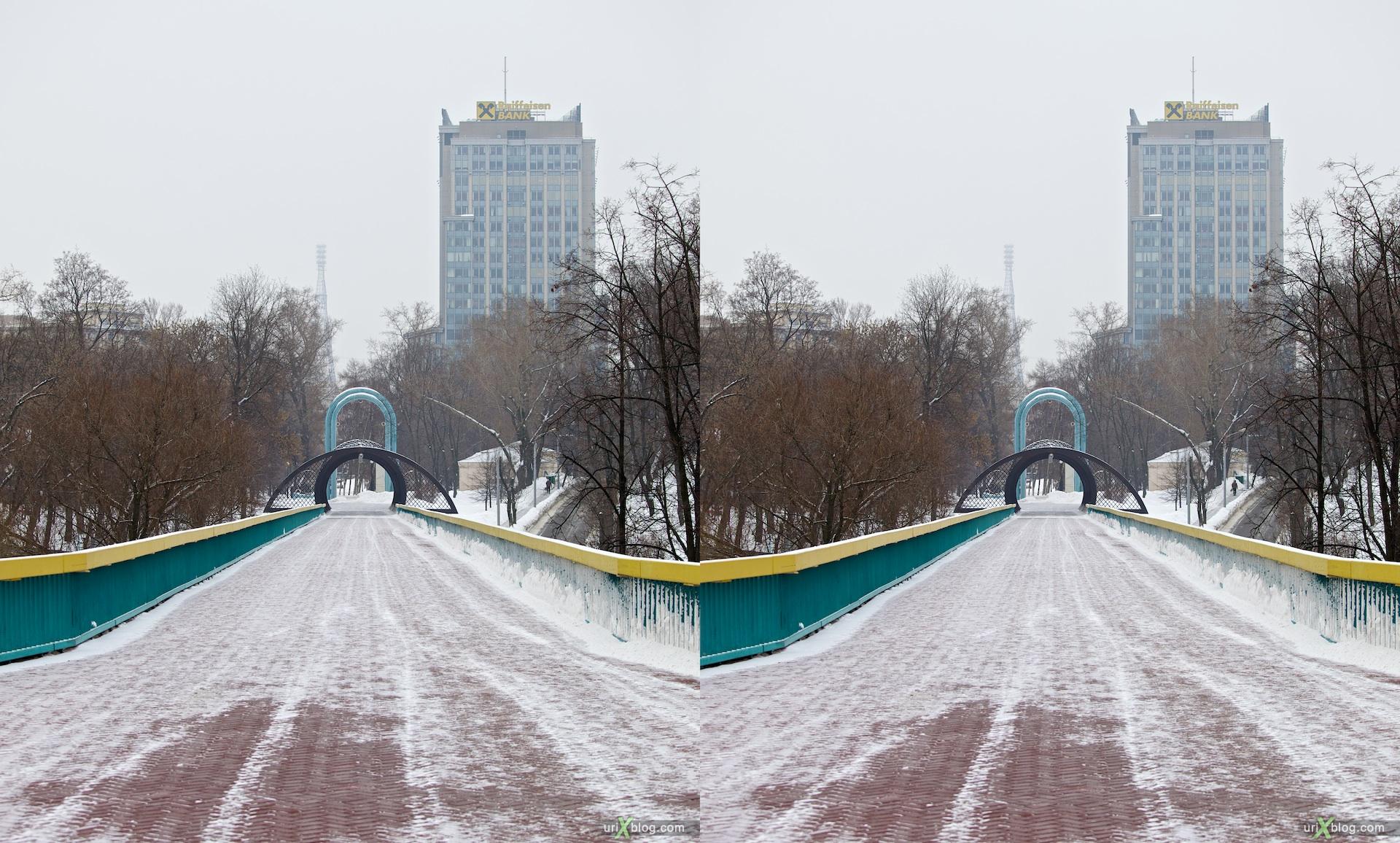 2010 3D, stereo, cross-eyed, стерео, стереопара Москва Андреевский мост