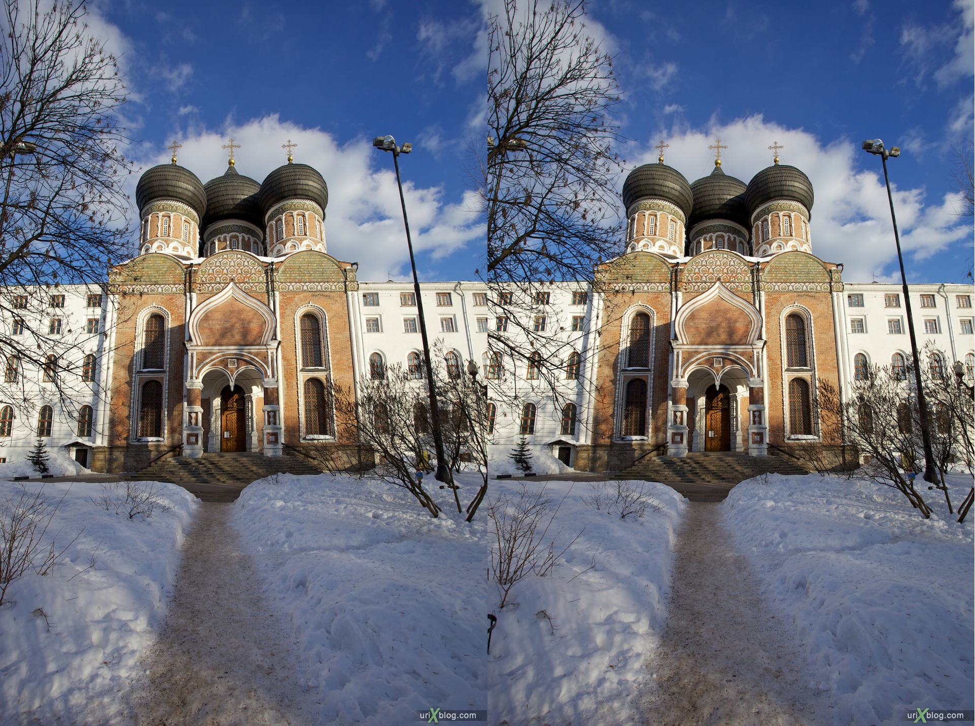 2010 3D, stereo, cross-eyed, стерео, стереопара Москва микрорайон Городок Баумана Серебряно-Виноградный пруд