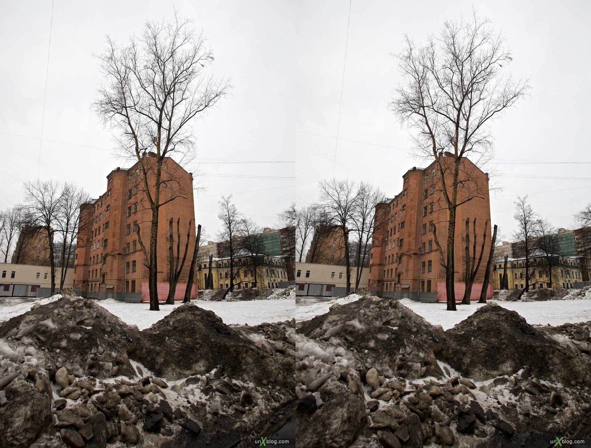Moscow, near the Kurskaya metro station, 2010 3D, stereo, cross-eyed, стерео, стереопара, Москва, около Курской