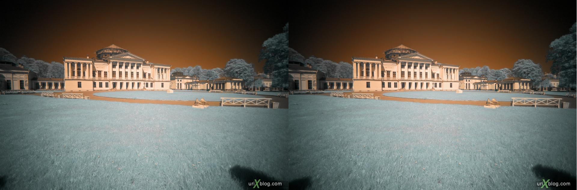 Ostankino park in infrared 3D, stereo, cross-eyed, стерео, стереопара, инфракрасный парк Останкино, Hoya R72 Москва 2010
