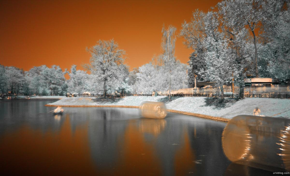 Ostankino park in infrared, инфракрасный парк Останкино, Hoya R72 Москва 2010