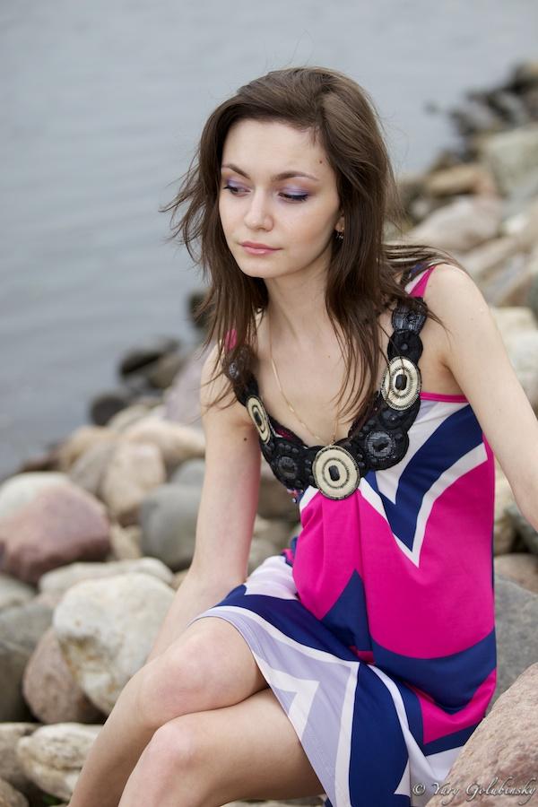 2010 Moscow Москва Коломенское парк набережная река girl девушка