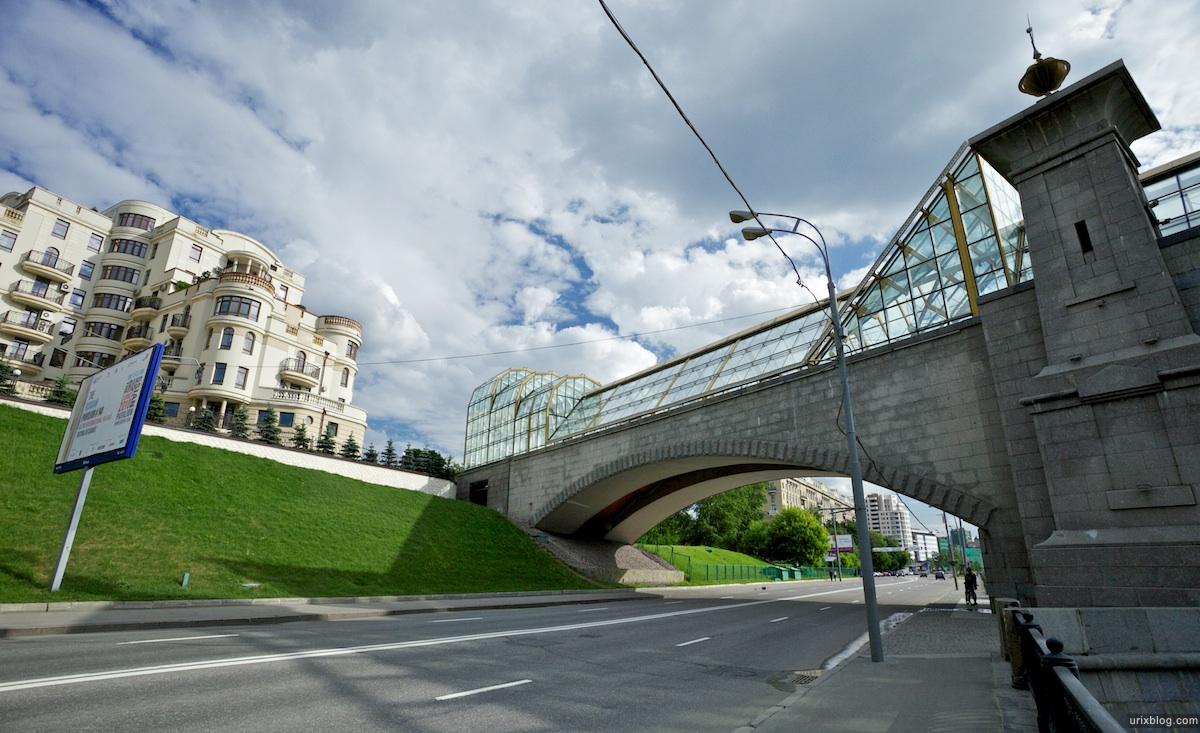 2010 Москва Moscow Киевский мост река дорога