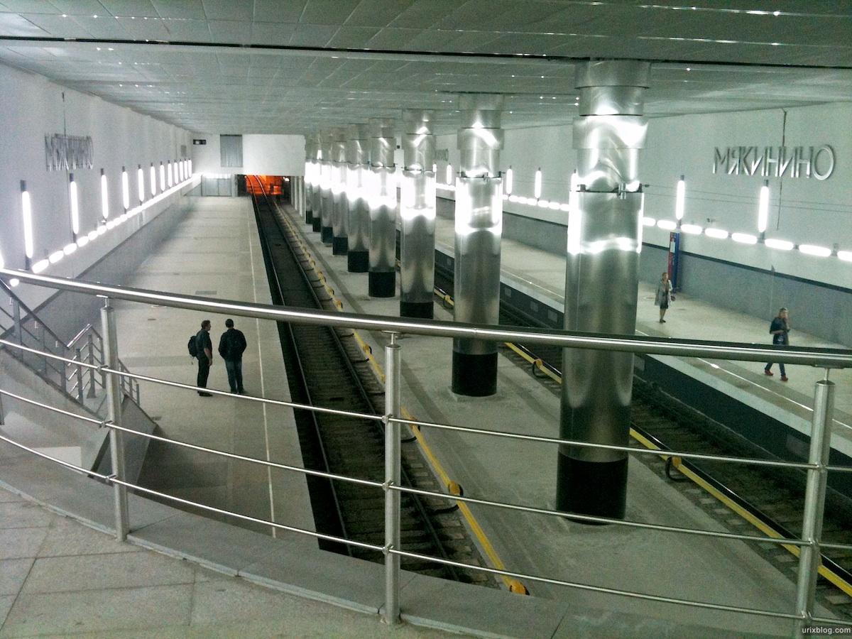 2010 Москва Moscow станция метро Мякинино