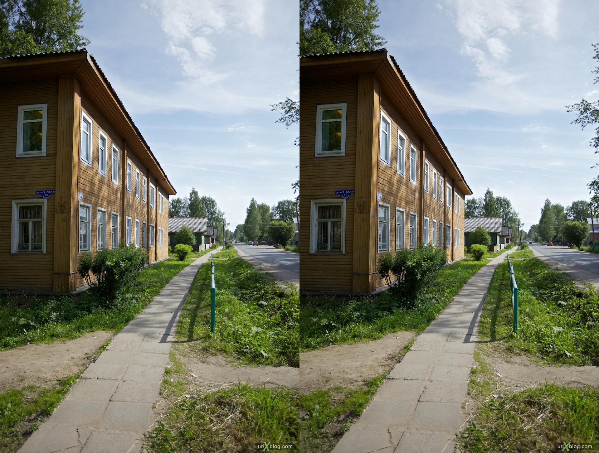 2010 3D, stereo, cross-eyed, стерео, стереопара Velsk, Arkhangelsk Oblast Вельск, Архангельская обл
