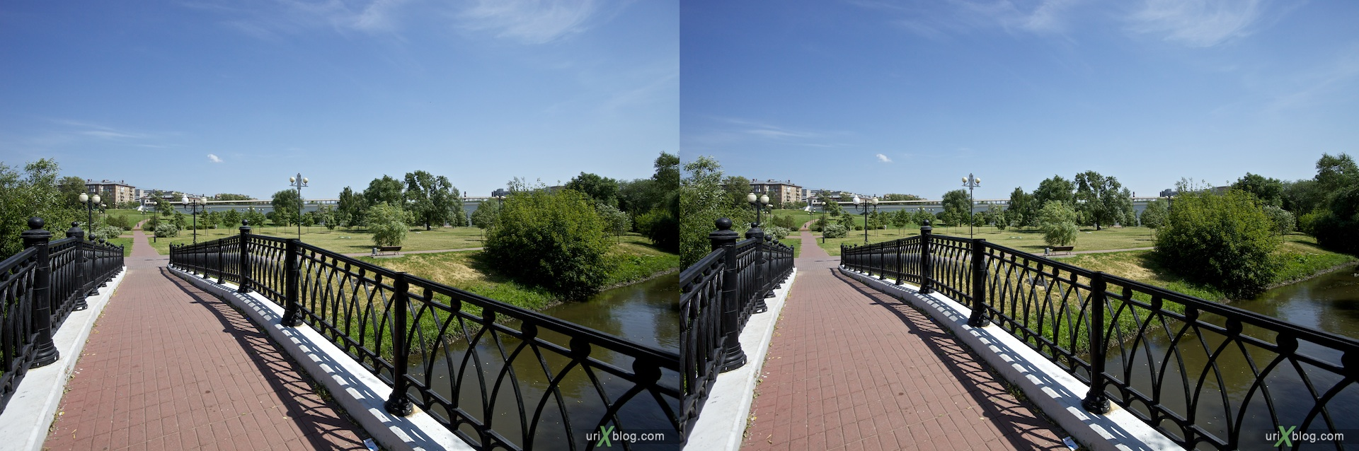 2010 3D, stereo, cross-eyed, стерео, стереопара Moscow, Rostokino Aqueduct, Москва Ростокинский акведук