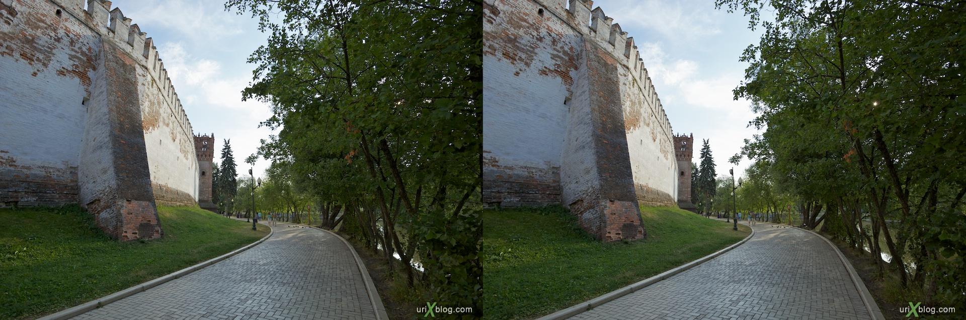 3D, stereo, cross-eyed, стерео, стереопара Новодевичий монастырь Москва Novodevichiy monastyr Moscow