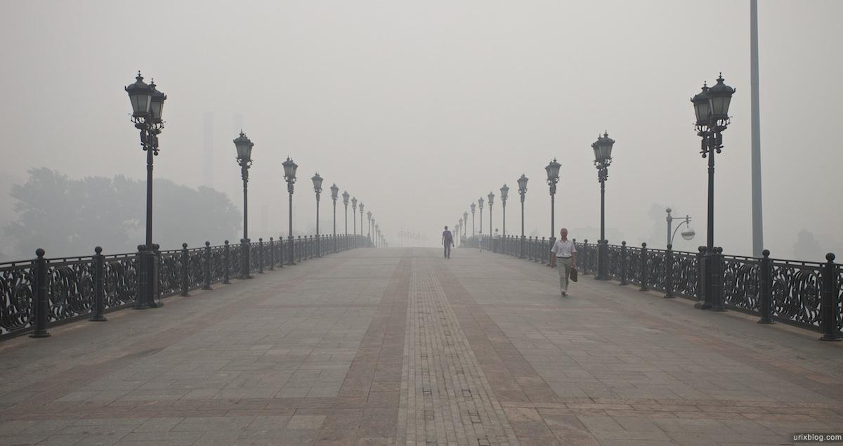 2010 Moscow Москва morning heat жара утро пожары wildfire smog смог