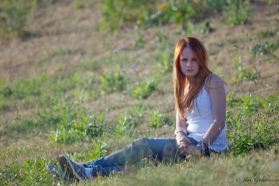 Canon 5D mark 2 Samyang 800mm f/8, Moscow park Pobedy (Victory), girl, model, 2010