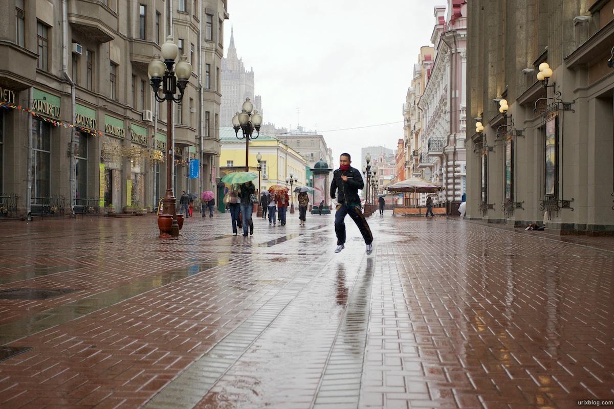 2010, Москва Старый Арбат бегущий человек