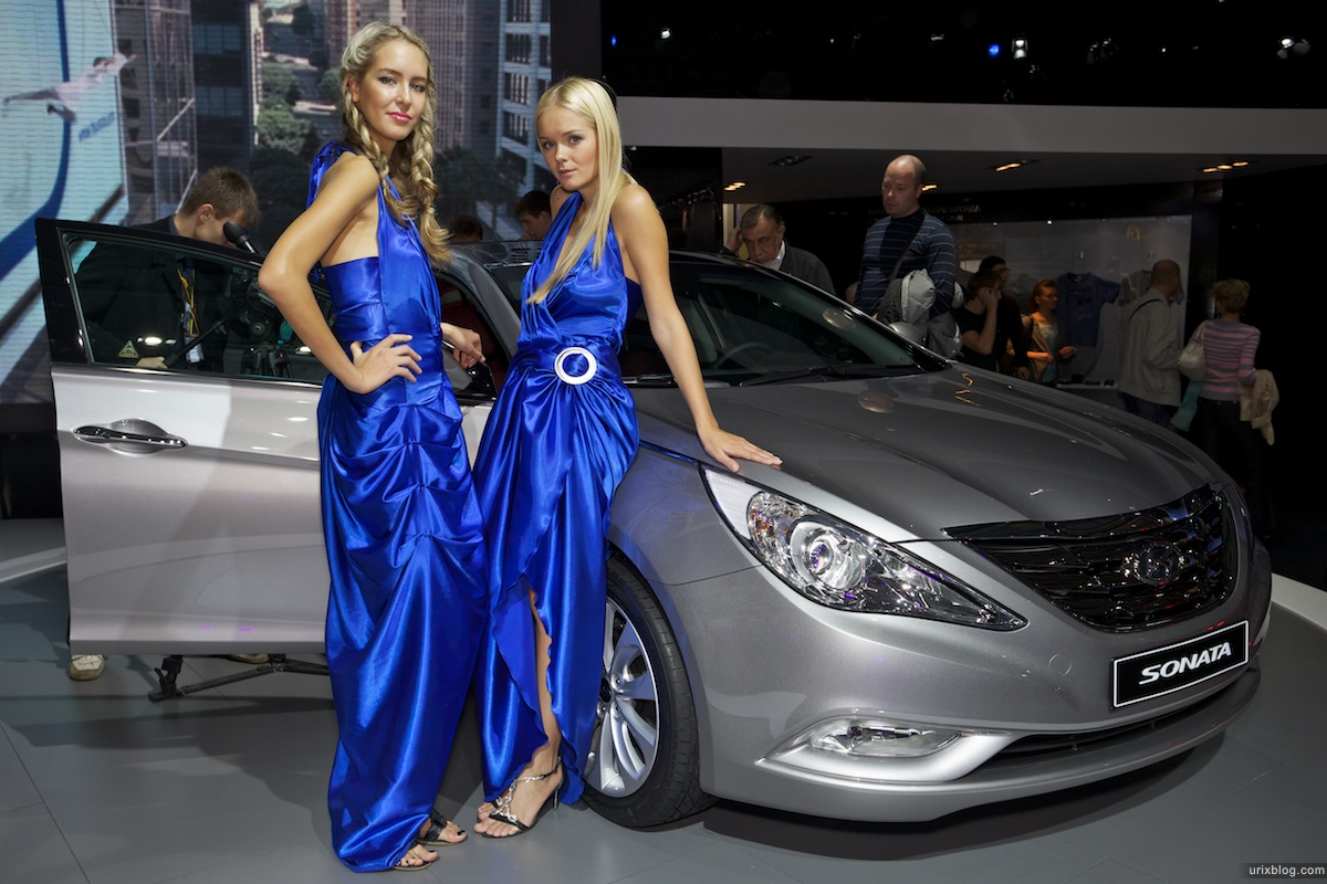 2010, cars, vehicles, Moscow International Automobile Salon, MIAS, MosIAS, Crocus Expo, girls, models