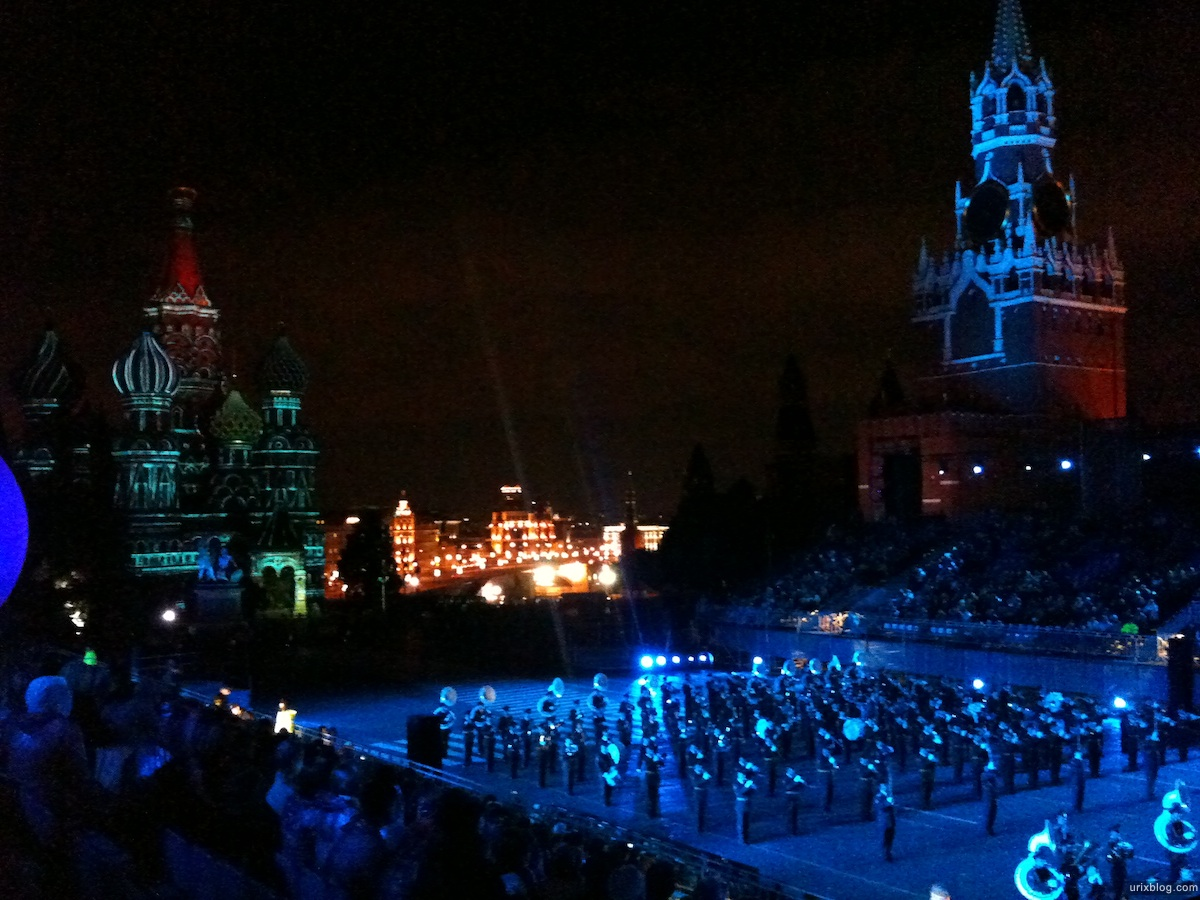 2010, Москва Спасская Башня Красная площадь Кремль Оркестры