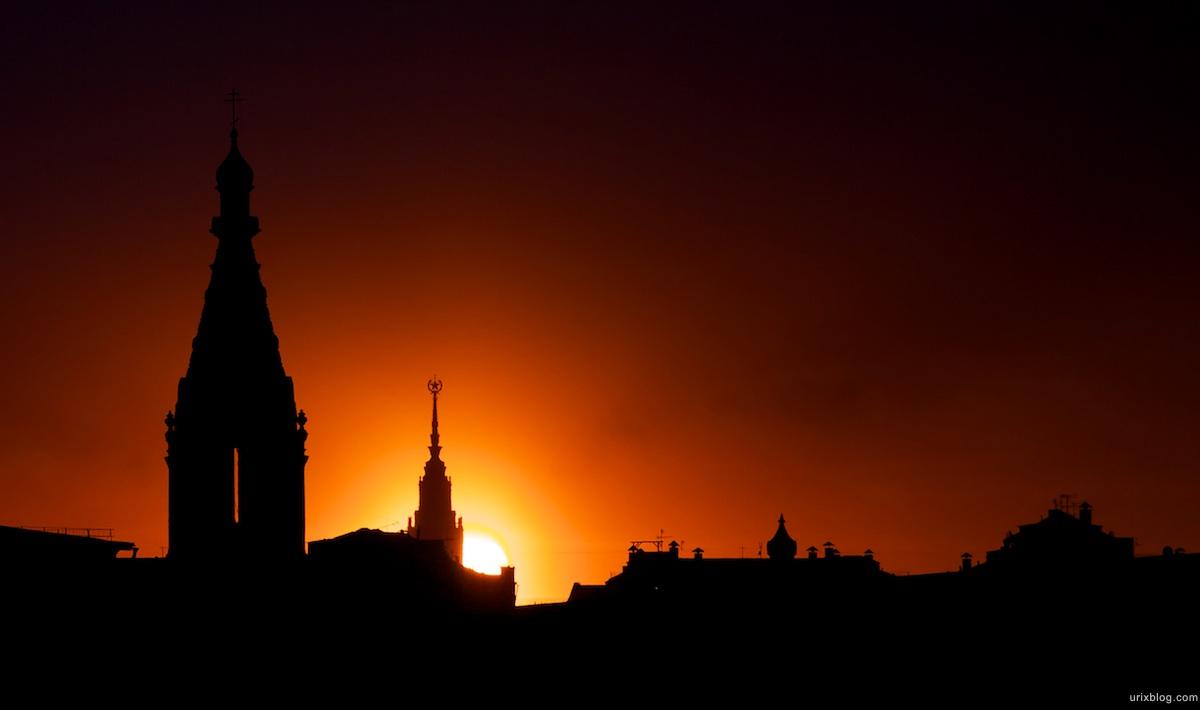 2010 Sunset Moscow, закат солнца вечер Москва