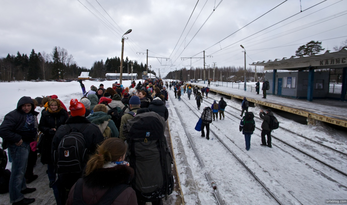 Россия Бакшевская Масляница, 2011, дорога на поляну