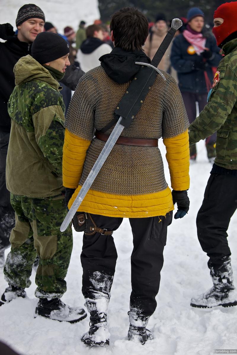 Россия Бакшевская Масляница, 2011, меч, рыцарь