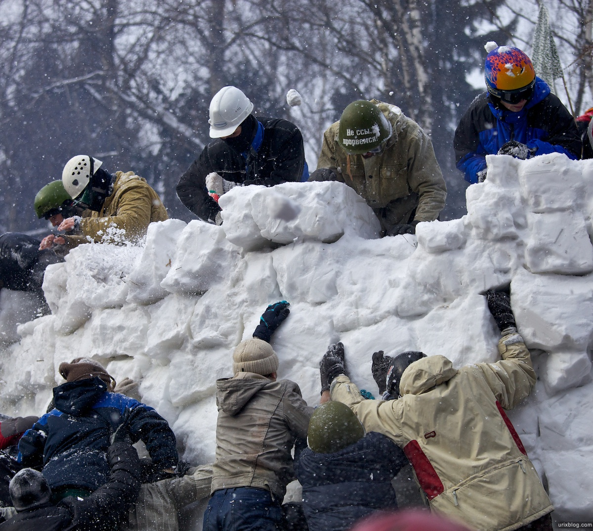 Россия Бакшевская Масляница, 2011, штурм крепости