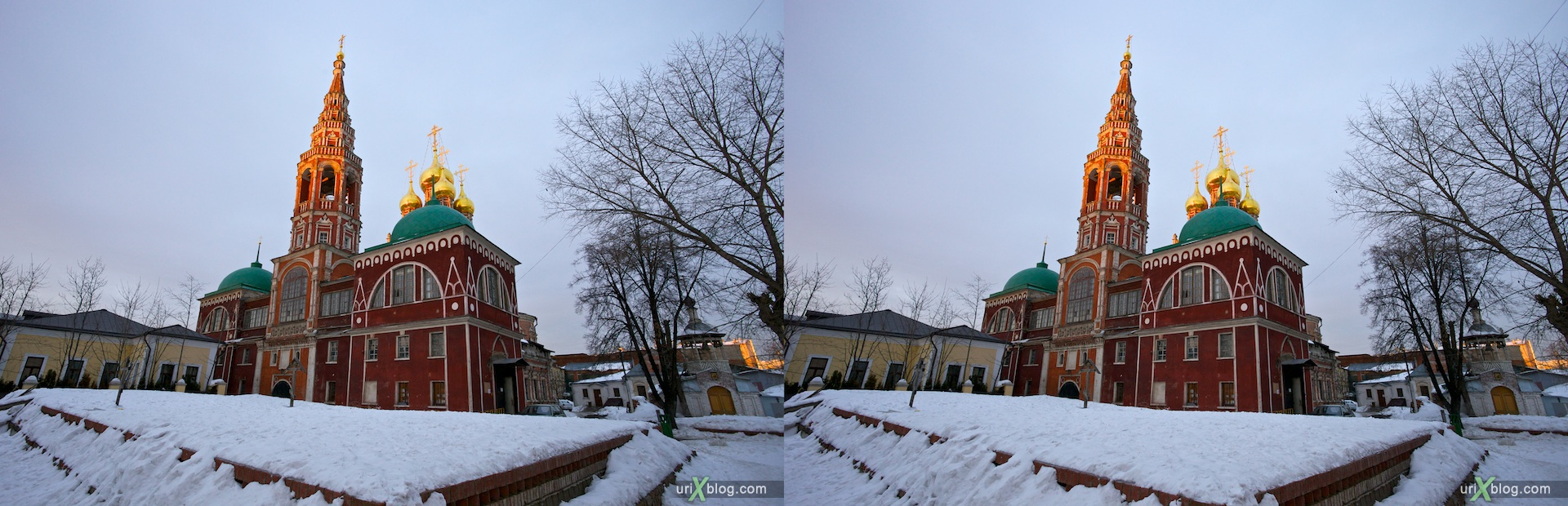 2011 церковь в Кадашах, храм в Кадашах, Kadashi Church, 3D, стерео, stereo