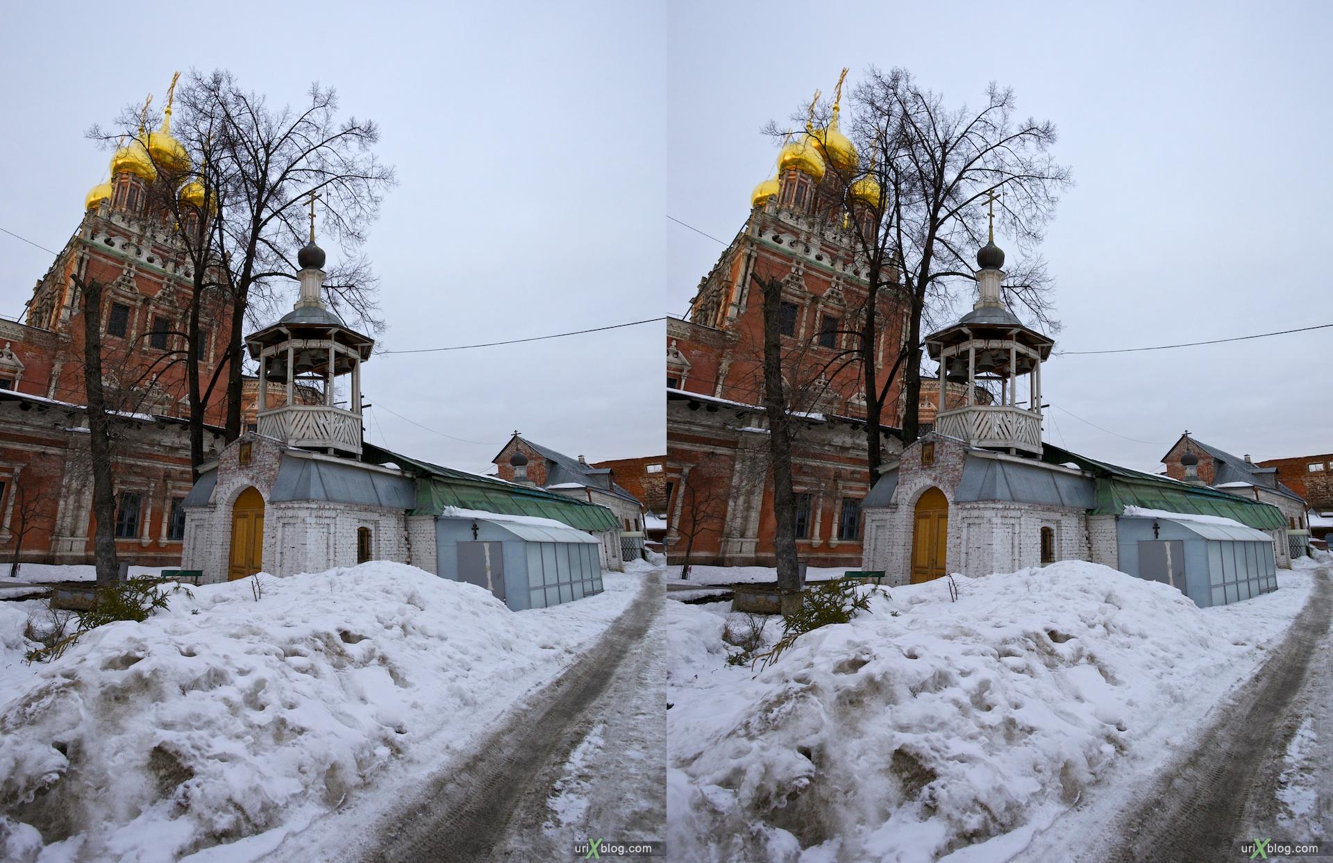 2011 церковь в Кадашах, храм в Кадашах, Kadashi Church, Храм преподобного Иова Почаевского, 3D, стерео, stereo