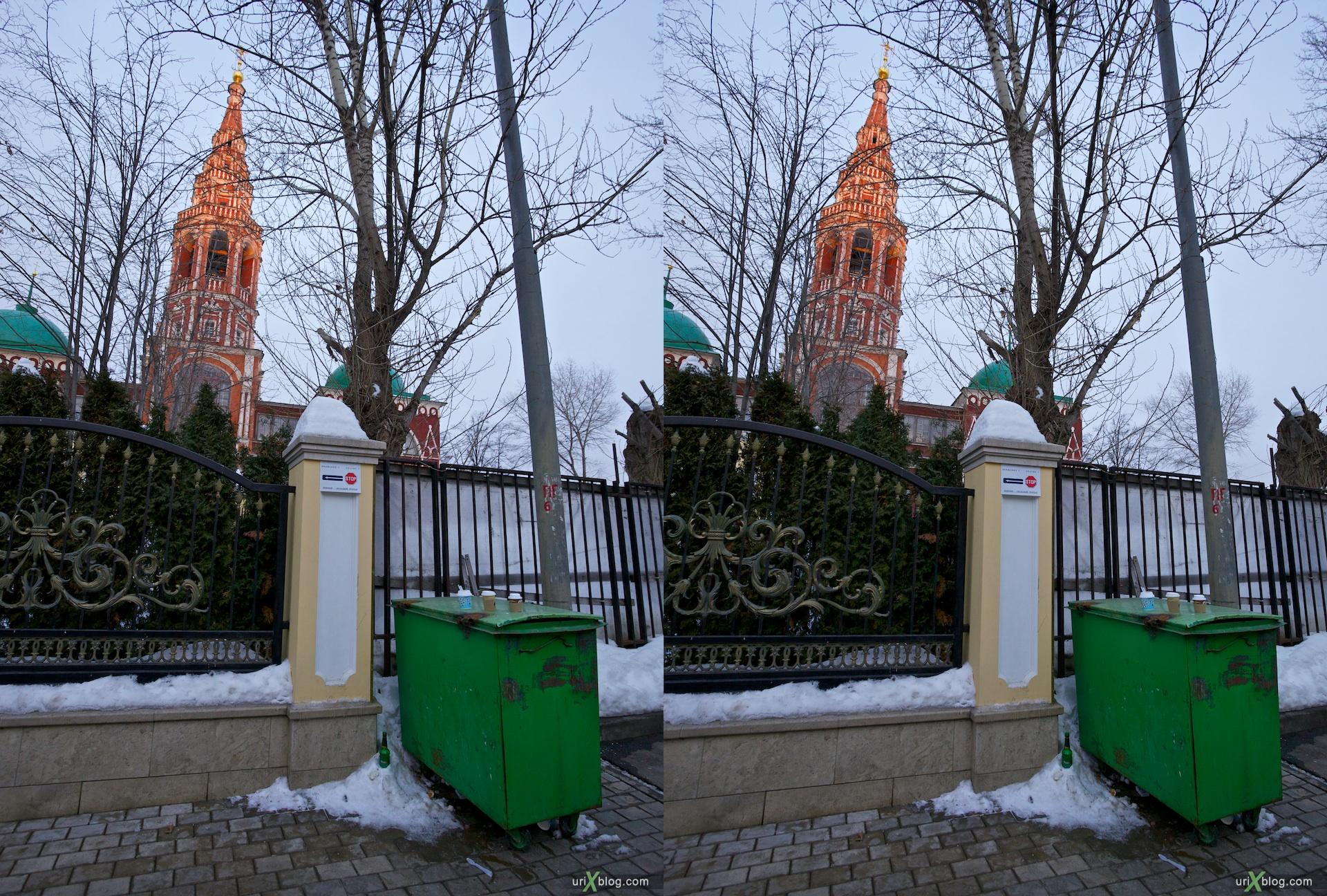 2011 церковь в Кадашах, храм в Кадашах, Kadashi Church, 3D, стерео, stereo