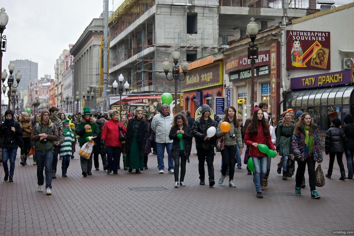 2011 Москва Запрещённый парад в день св. Патрика