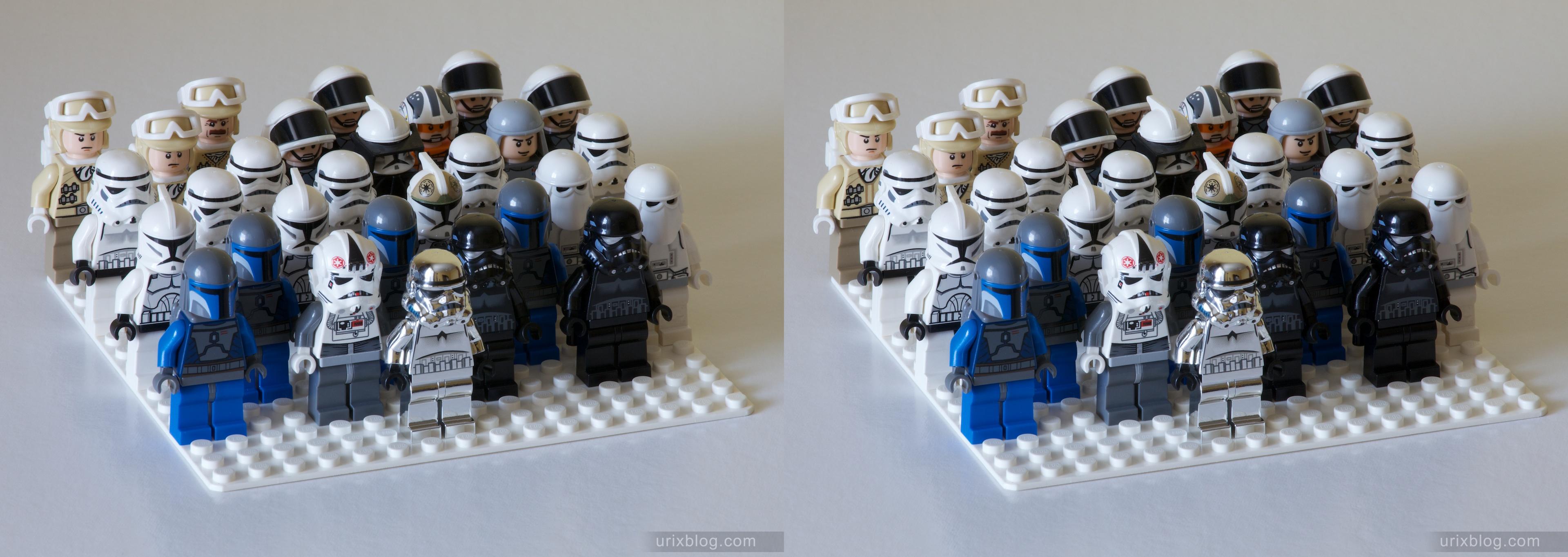 Lego Star Wars Troops 3D stereo Лего Звёздные войны солдатики 3Д стерео