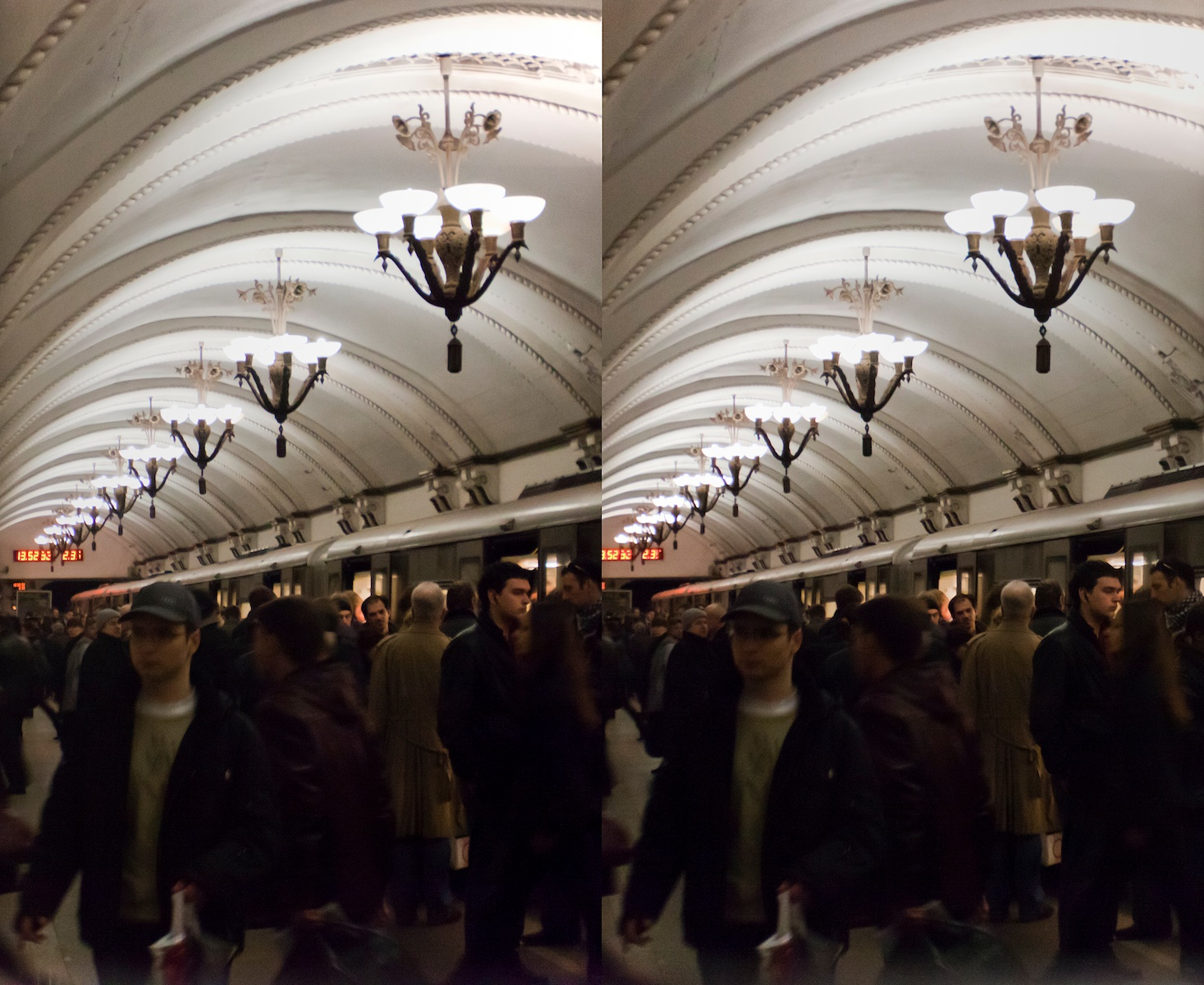 2011 стерео stereo Borovitskaya metro station, Боровицкая, Shot with Loreo 3D lens In A Cap and Canon 5D mark 2