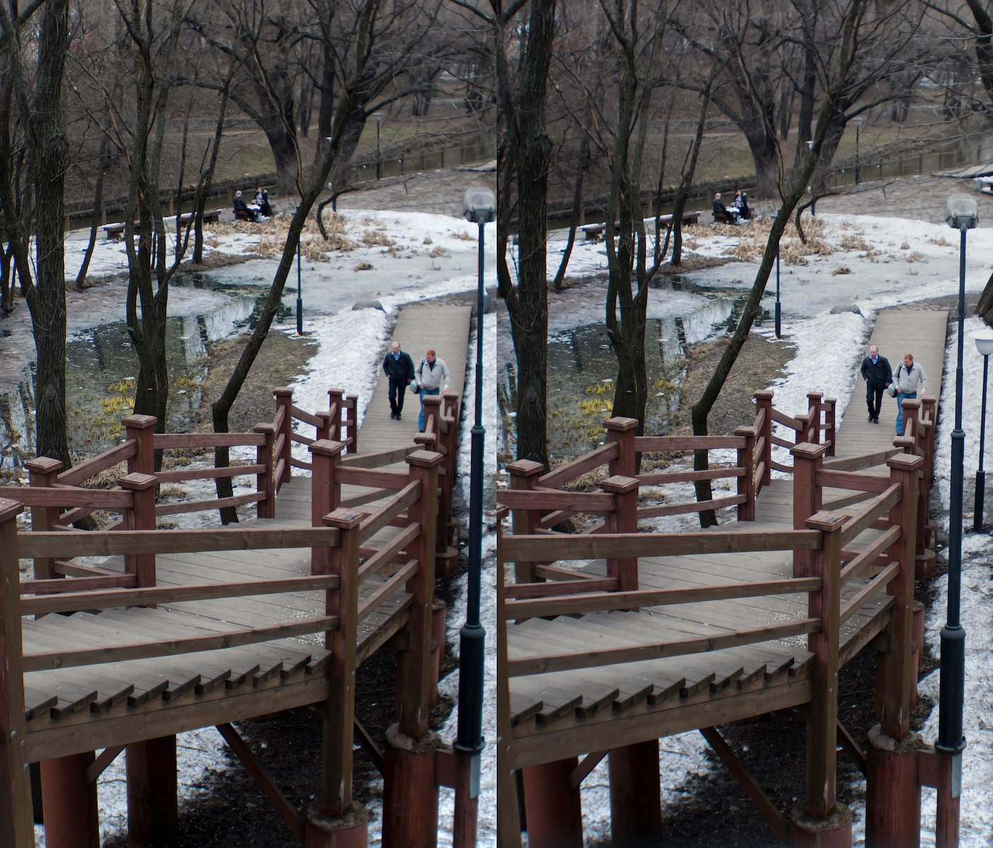 2011 стерео stereo Otradnoe park, Отрадное, Shot with Loreo 3D lens In A Cap and Canon 5D mark 2