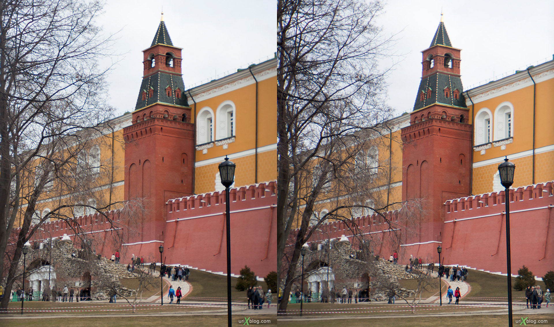2011 Kremlin, Кремль, Moscow, 3D, stereo, cross-eyed, стерео, стереопара, Москва, Loreo 3D lens in a cap