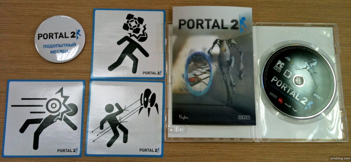 portal 2 box, russia, steam, россия