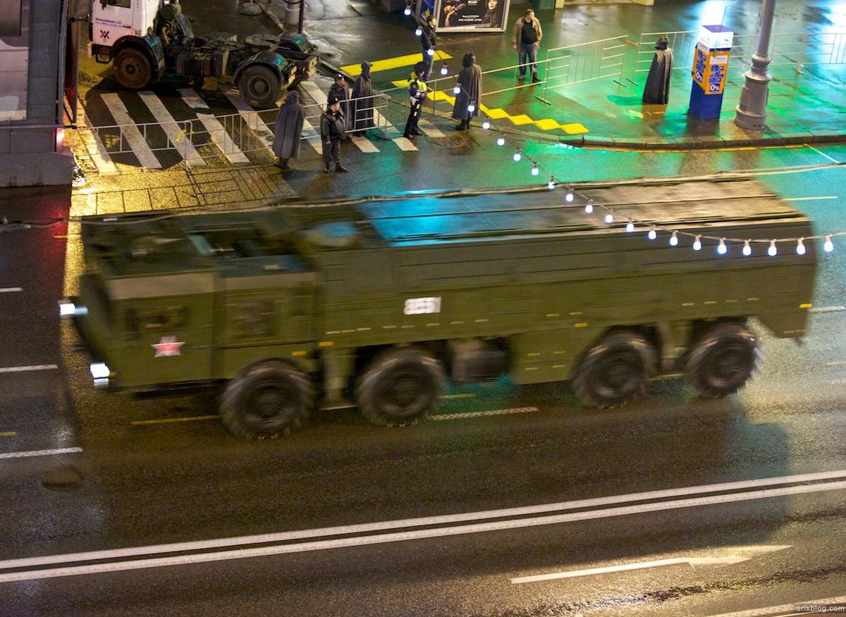 Москва, репетиция парада, Moscow, Rehearsal of the parade вечер 2011 9 мая танк тверская